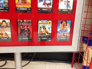 Doggie B on Redbox, between Sparkle and Step Up!